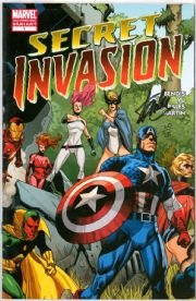 Secret Invasion #1 Variant Dynamic Forces Signed Stan Lee DF COA Ltd 25 Marvel comic book